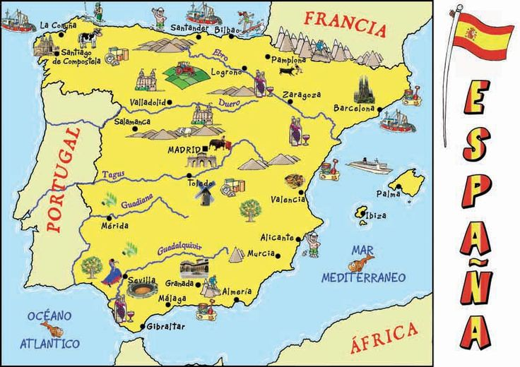 Mountains Of Spain Map.Map Of Spain Clipart 20 Free Cliparts Download Images On