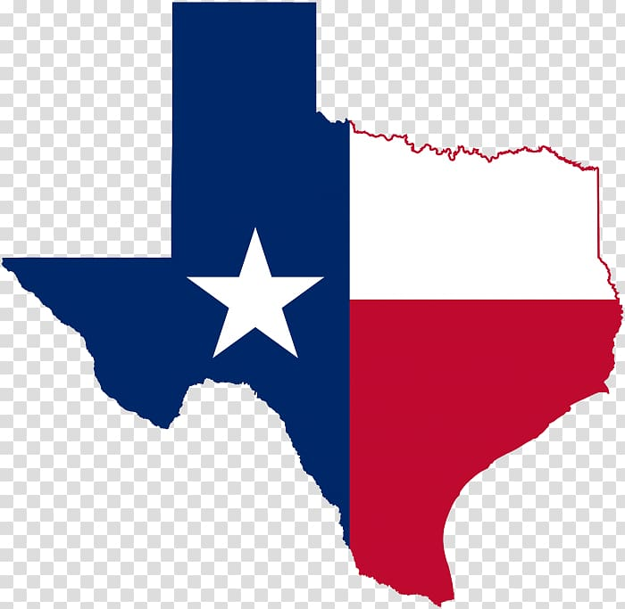 Flag of Texas Blank map, map transparent background PNG.
