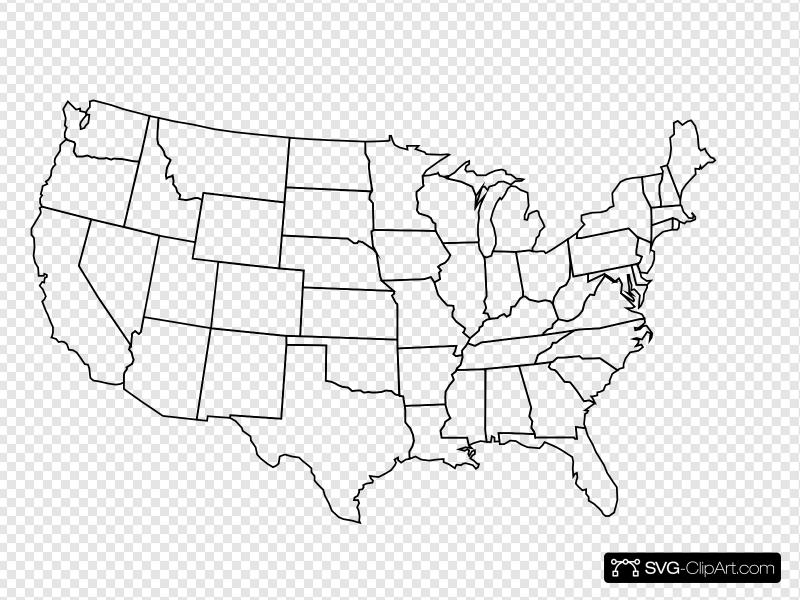 Blank Us Map Clip art, Icon and SVG.