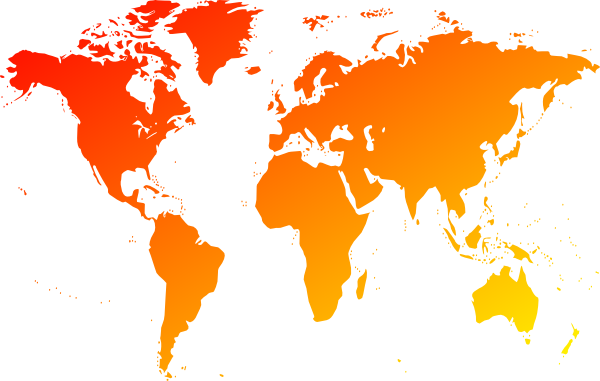 Map of the World Clipart.