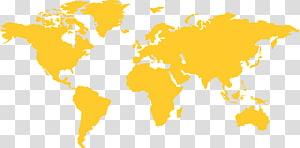 World map Globe, Yellow world map background , World Map.