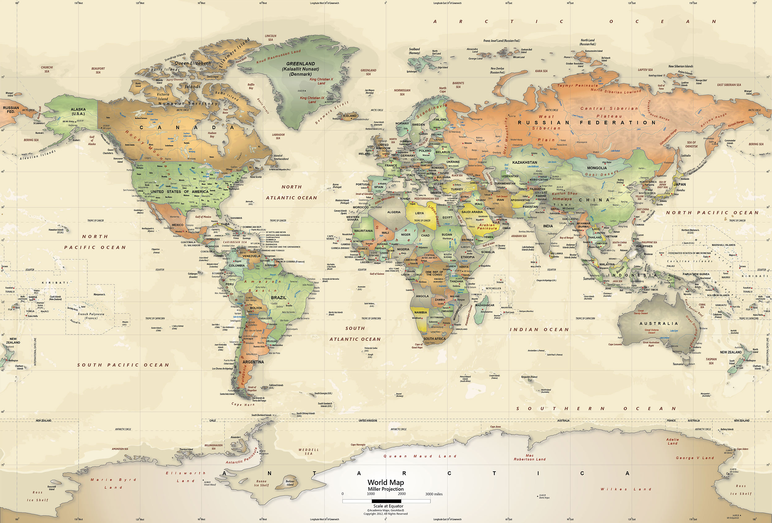 Old World Map Wallpaper.