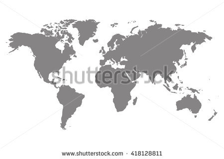 World Map Stock Images, Royalty.