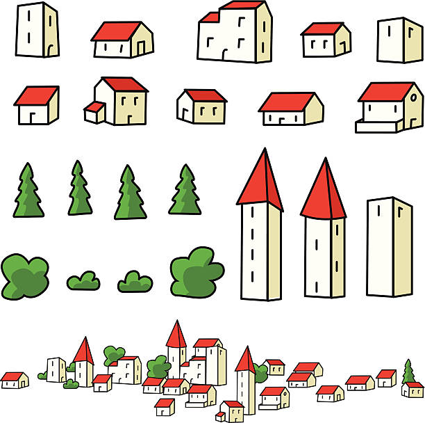 Small Town Map Clip Art, Vector Images & Illustrations.