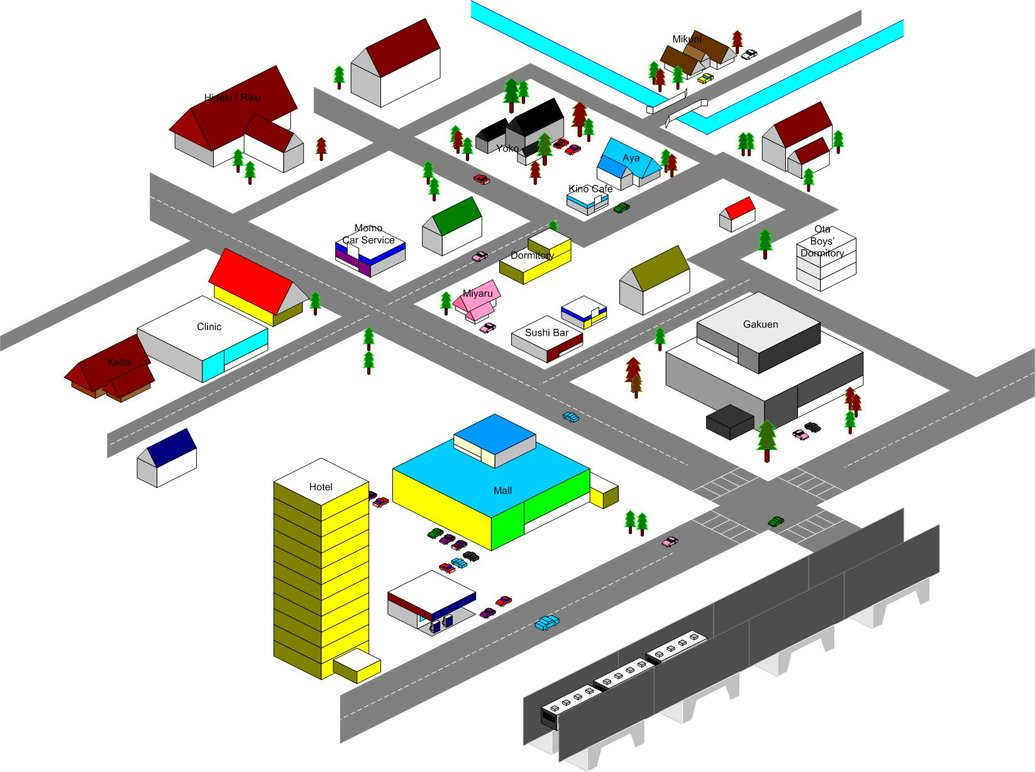 Town Map Clipart.
