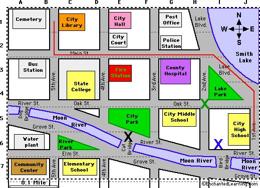 map of town clipart #3