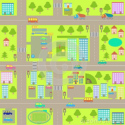 Map Of Town Clipart.