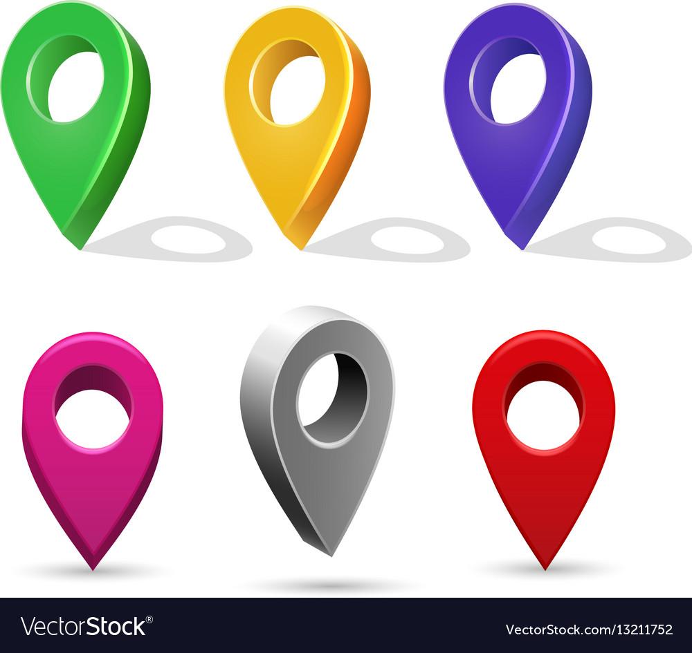 map pin vector clipart #5