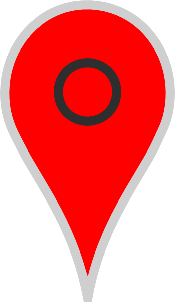 Google Map Pointer Red Clip Art at Clker.com.