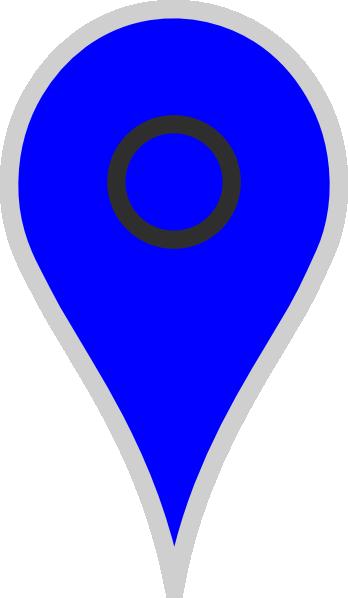 Google Map Pointer Blue Clip Art at Clker.com.