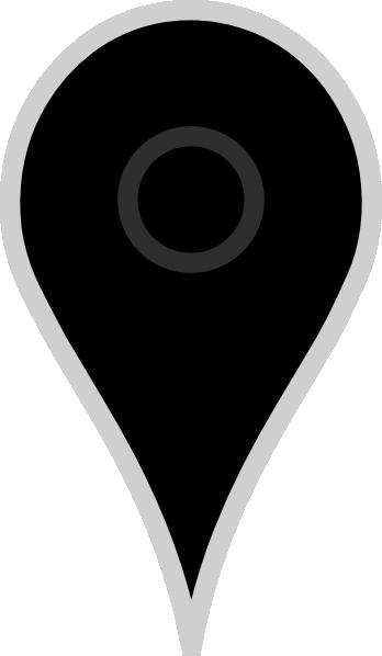 Google Map Pointer Black Clip Art at Clker.com.