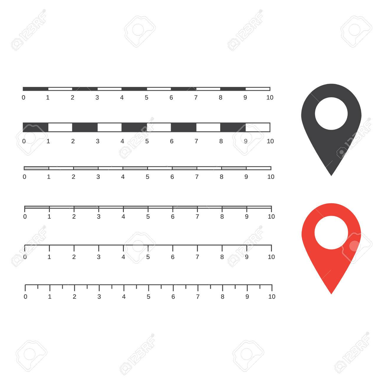 Vector map scales graphics for measuring distances.