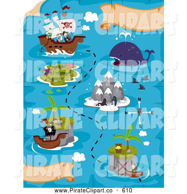 Royalty Free Map Stock Pirate Designs.