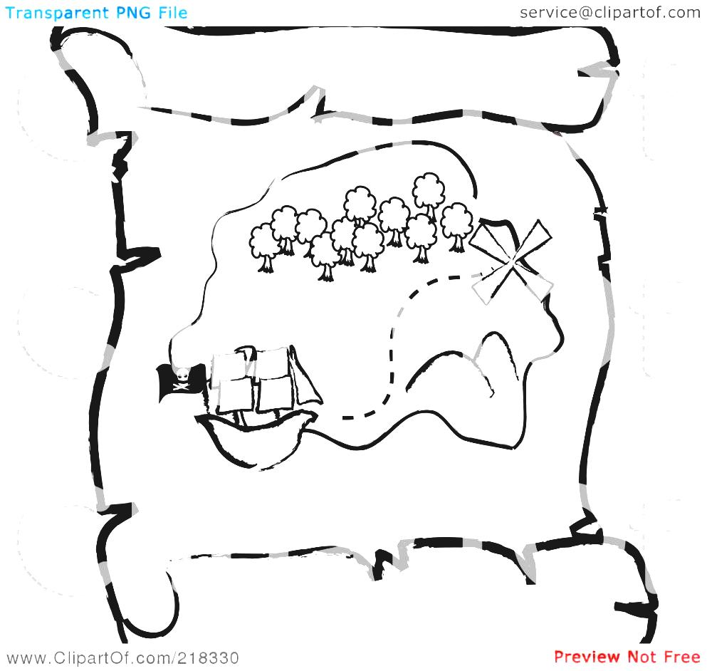 Blank Treasure Map Clipart Royalty Free Rf Illustration Of An.