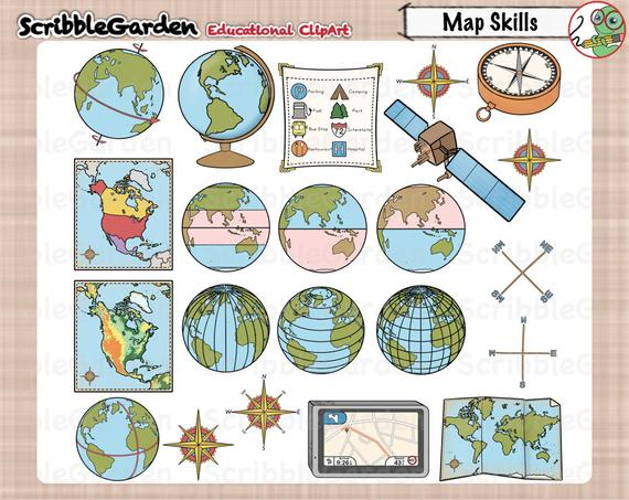 Map Skills Geography ClipArt.