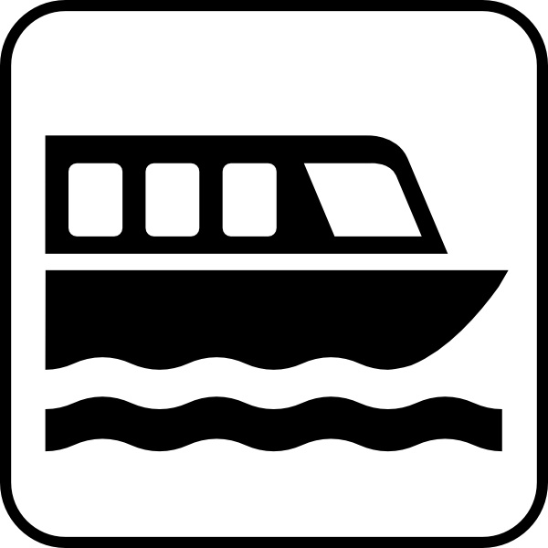 Map Symbols Boat clip art Free vector in Open office drawing svg.
