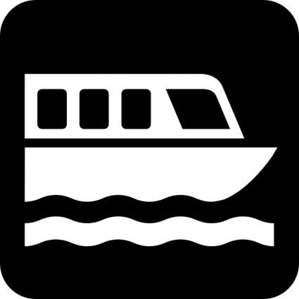 Map Symbols Boat clip art.