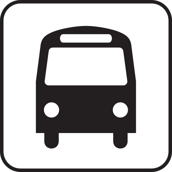 Map Symbols Bus clip art Free vector in Open office drawing svg.