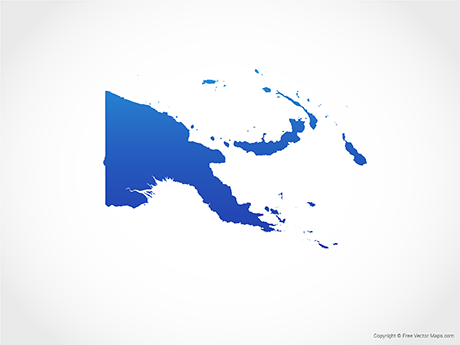 Vector Maps of Papua New Guinea.