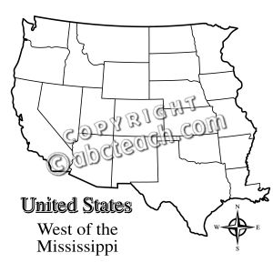 Map Western Clipart Clipground - Blank map of western us