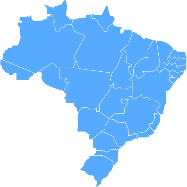 Mapa Brasil Clip Art at Clker.com.