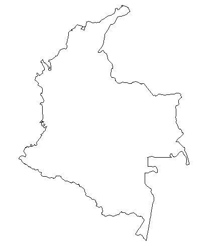 Colombia Black And White Clipart.