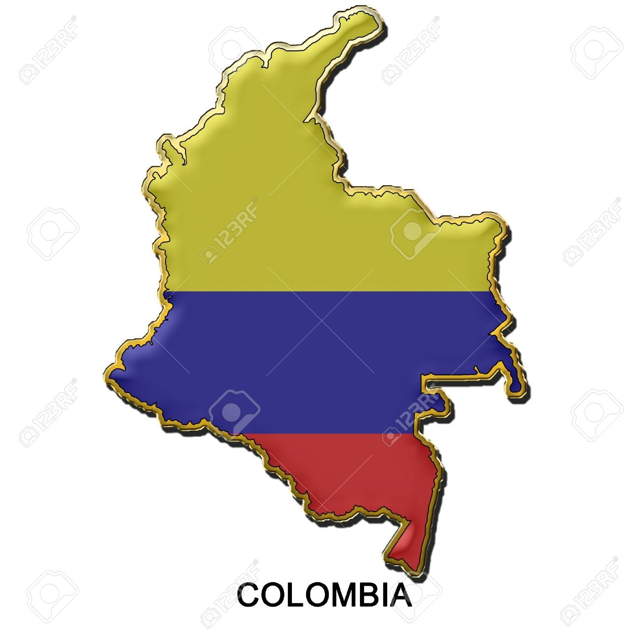 Colombia Map Clipart.