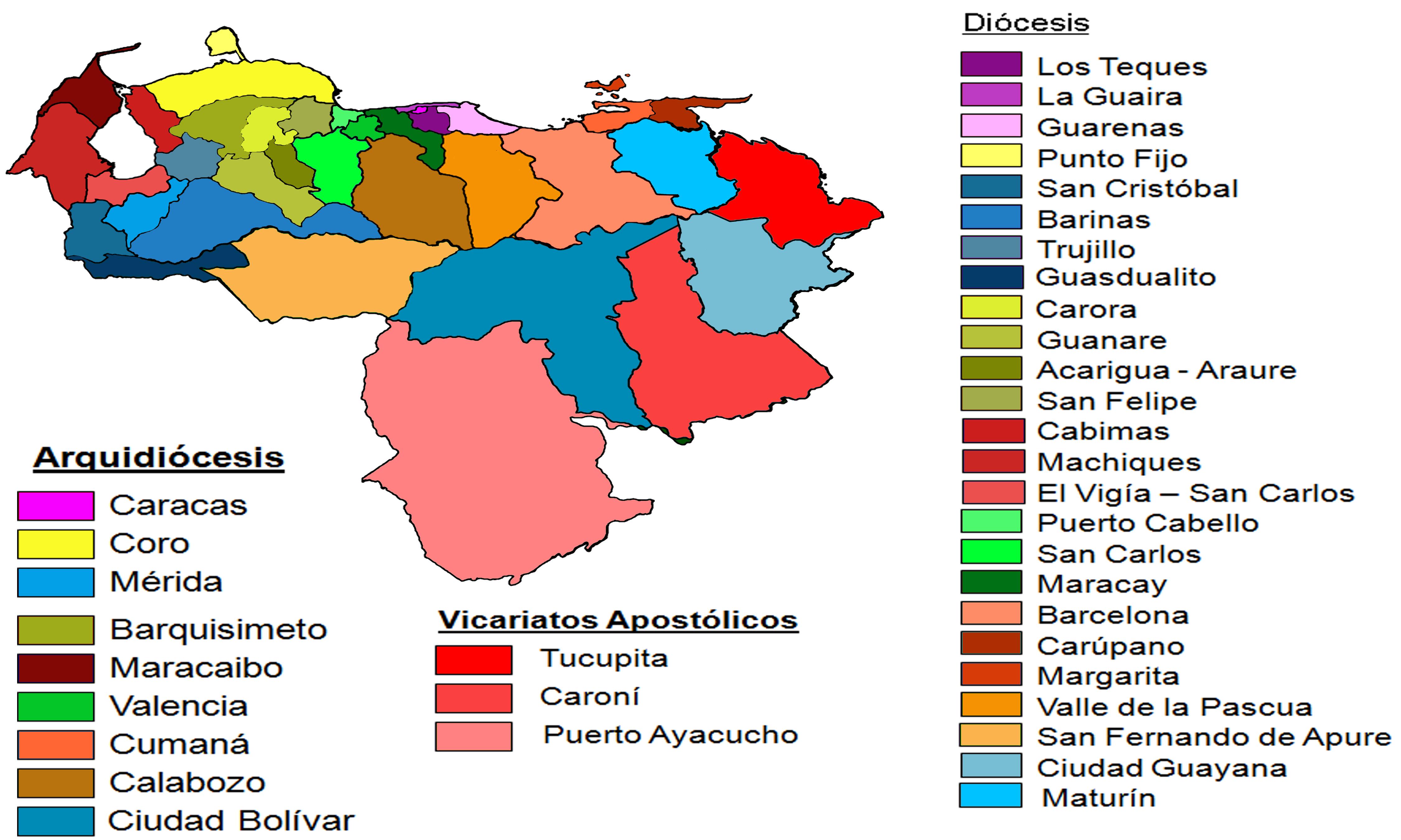 File:Mapa de Arquidiócesis y Diócesis de Venezuela.png.