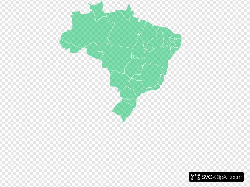 Mapa Brasil Clip art, Icon and SVG.