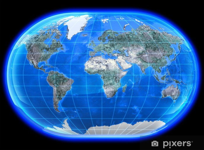 The Mapa Mundi 3D Wall Mural.