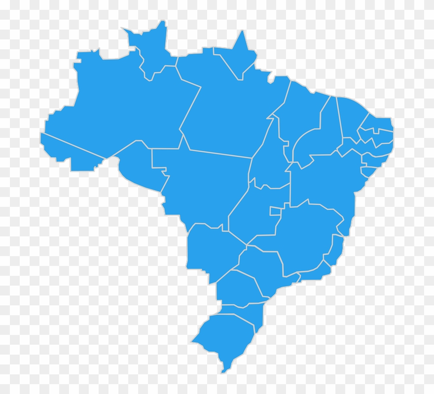 Brazil, Map, Geography, Brazilian, Cartography, States.