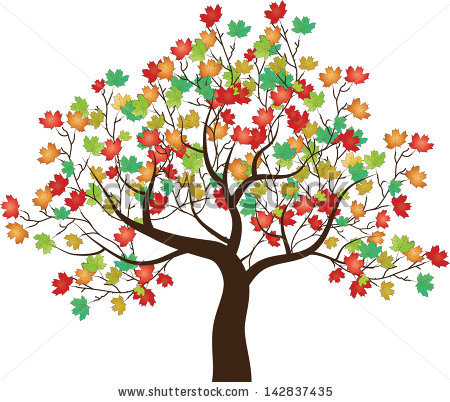 Graphic Maple Tree Vector Stock Photos, Royalty.