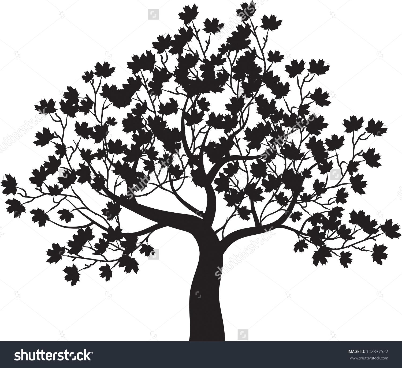 Fall Maple Tree Vector Free Clipart.