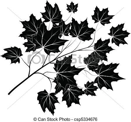 Clip Art Vector of Maple branch.