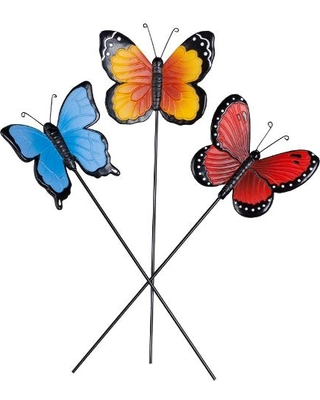 Boom! Black Friday Deal: Butterfly Planter Stakes, Set of 3 by.