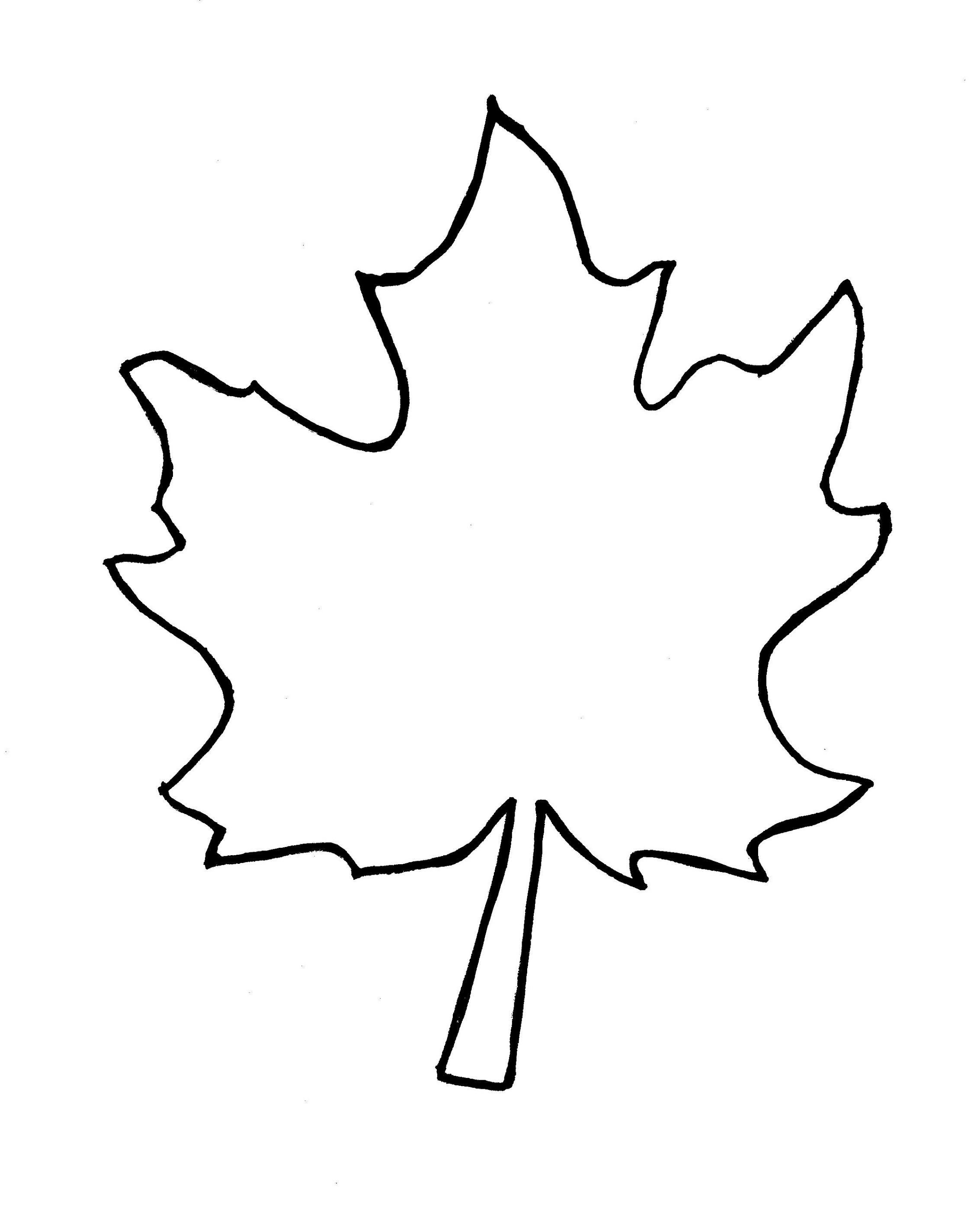 Leaf Clipart Black And White Outline.