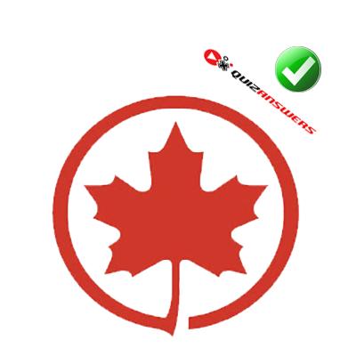 Red leaf Logos.
