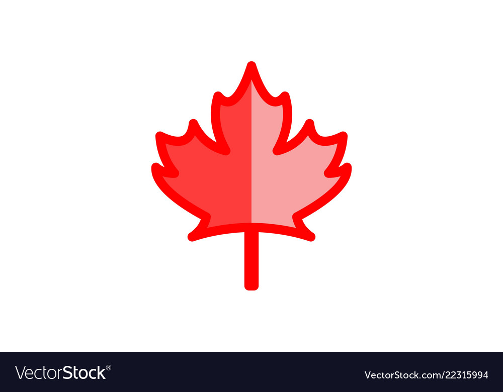 Canadian red maple leaf logo designs inspiration.