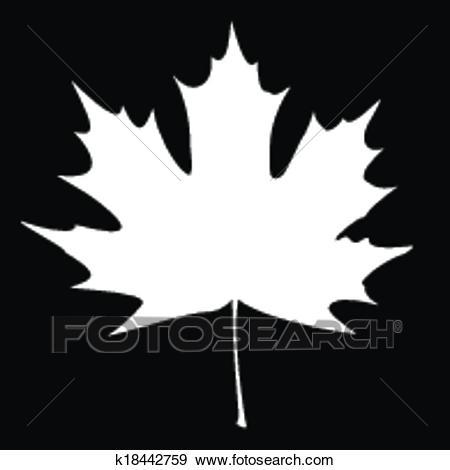 White Maple Leaf Silhouette Clip Art.