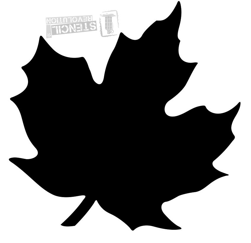 Maple Leaf Stencils.