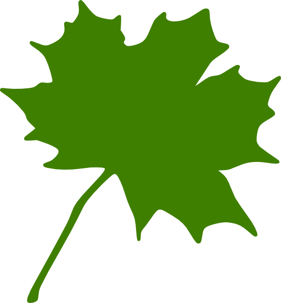 Green Maple Leaf Clip Art at Clker.com.
