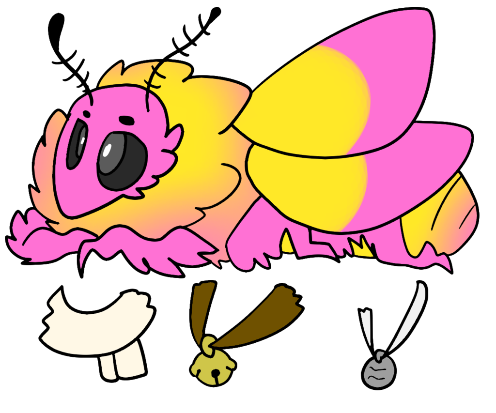 Honey the Rosy Maple Moth REF by tiddytown on DeviantArt.