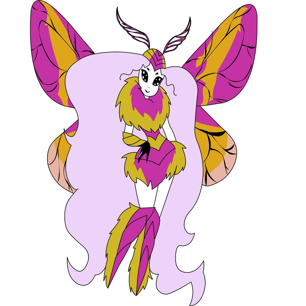 rosy maple moth by 24gothkitty on DeviantArt.