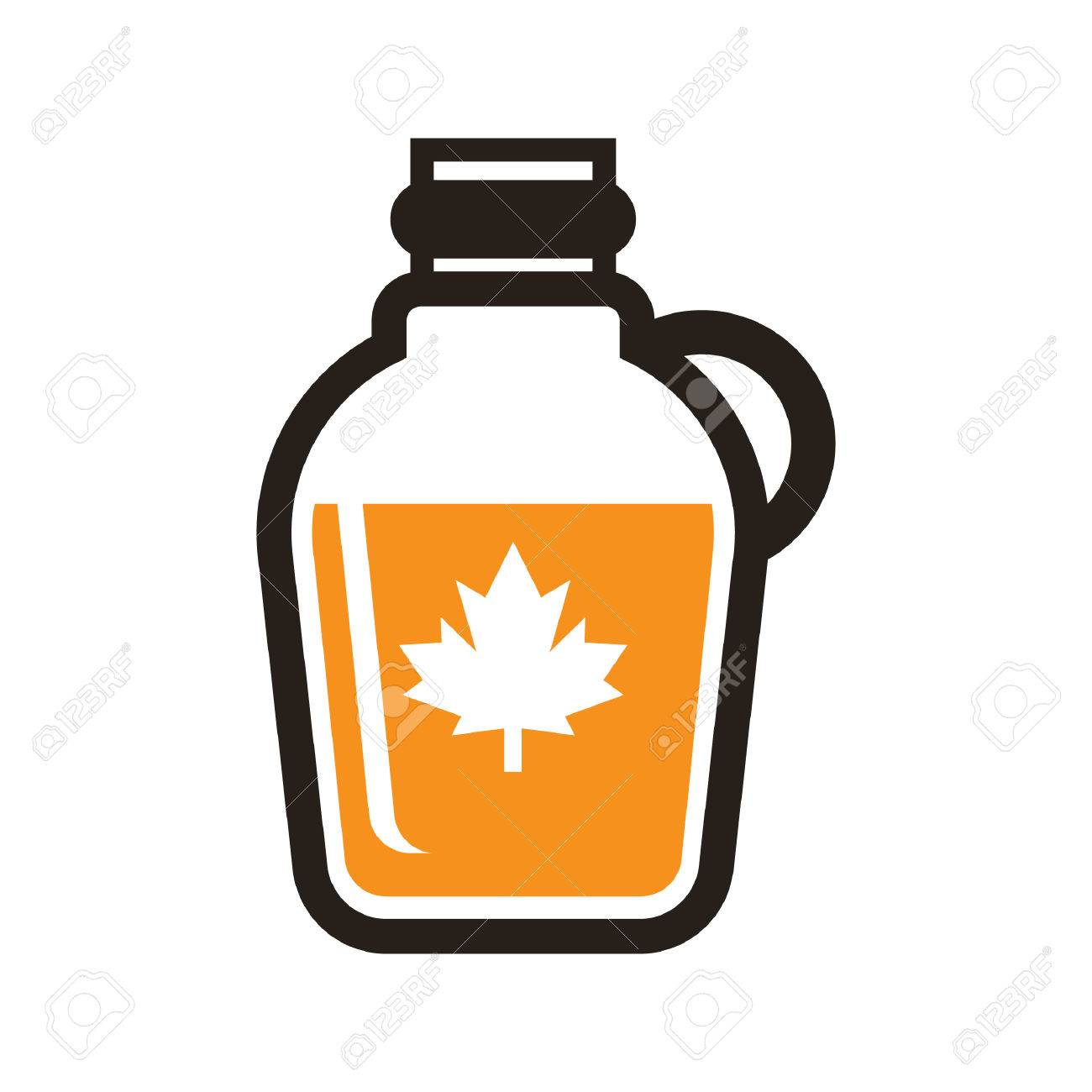 A maple syrup illustration..