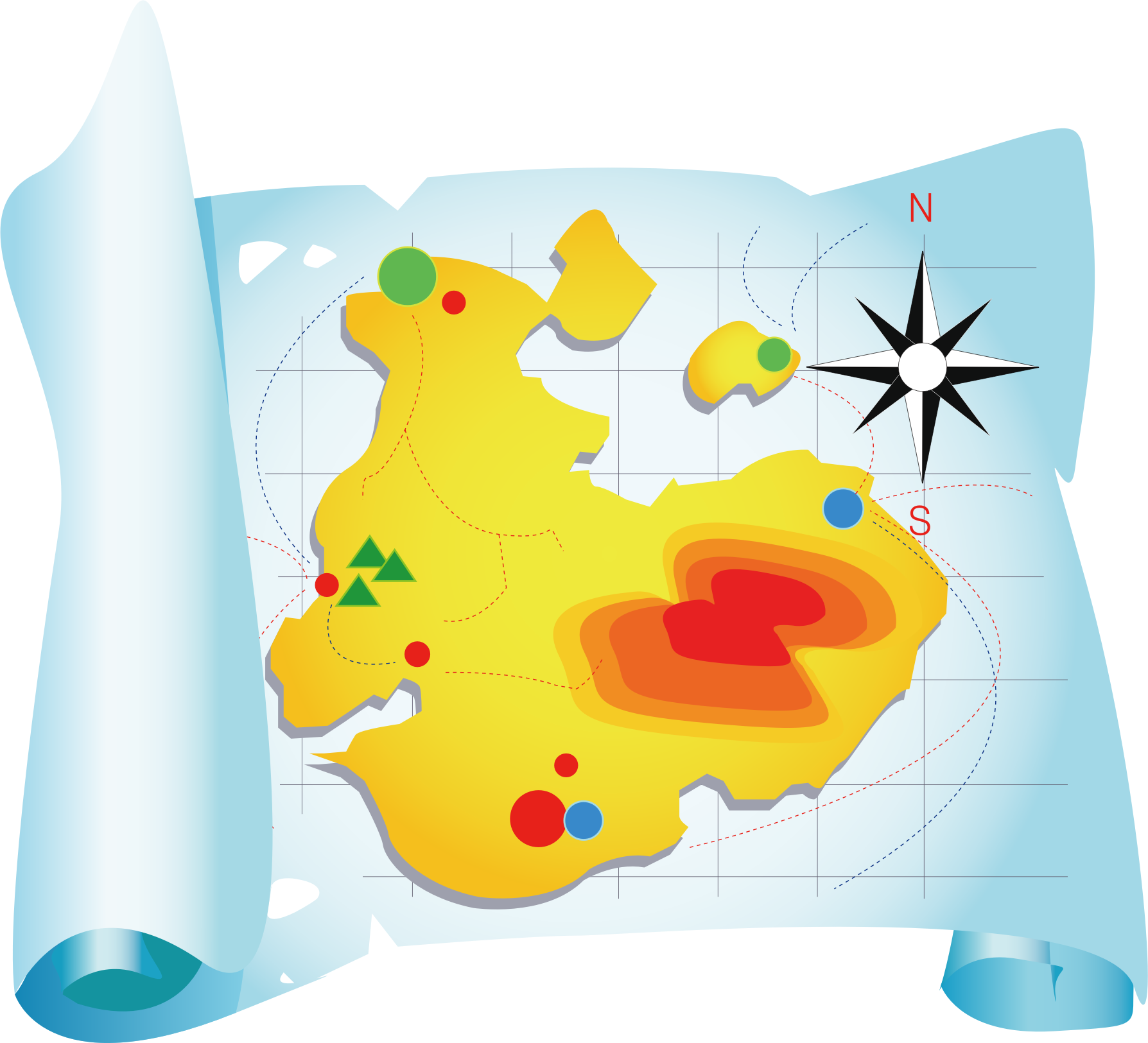 Travel Mapping Clip Art.