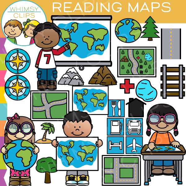 Reading Maps Clip Art , Images & Illustrations.