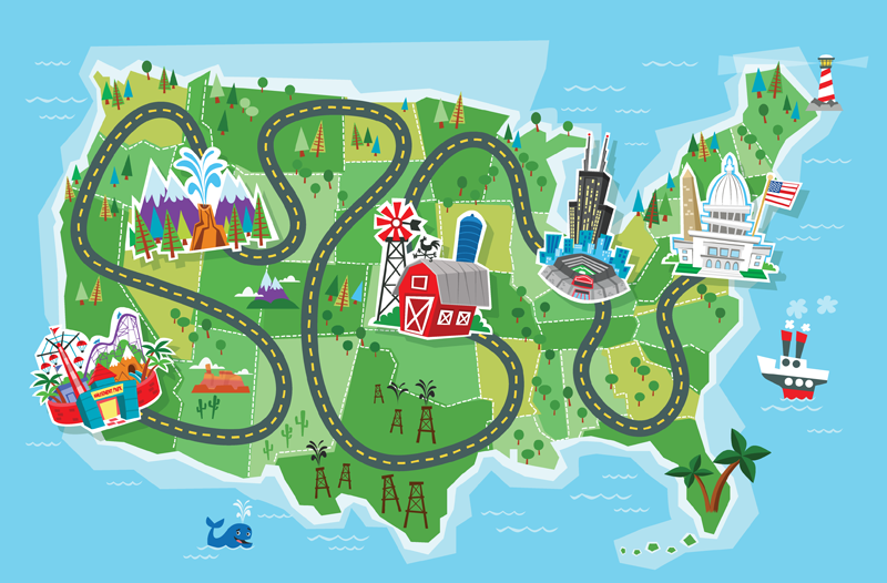 Free clipart of road maps.