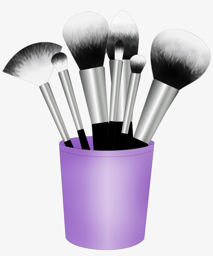 Brush Clipart Gold Makeup.