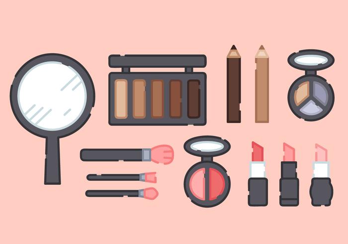Maquillaje Productos Dibujos Animados Png Vector, Clipart.