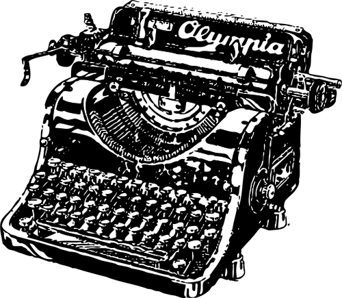 Clipart Máquina de Escribir Olympia de Epoca PNG.